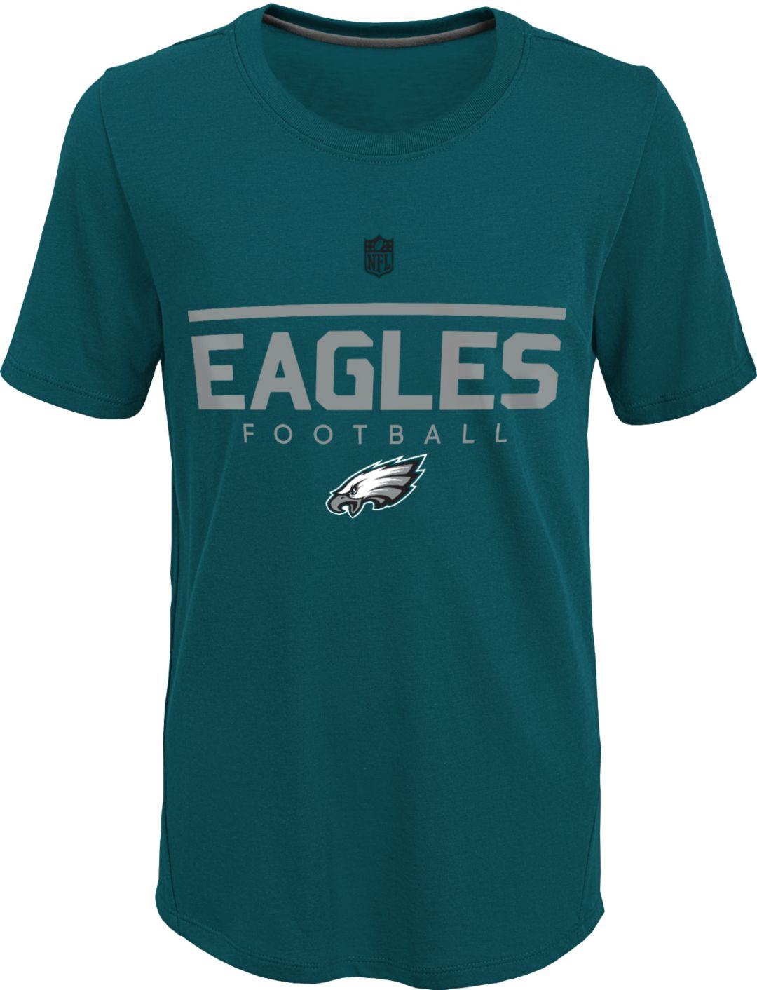 new concept 694bd dd3bf NFL Team Apparel Youth Philadelphia Eagles Ultra Green T-Shirt