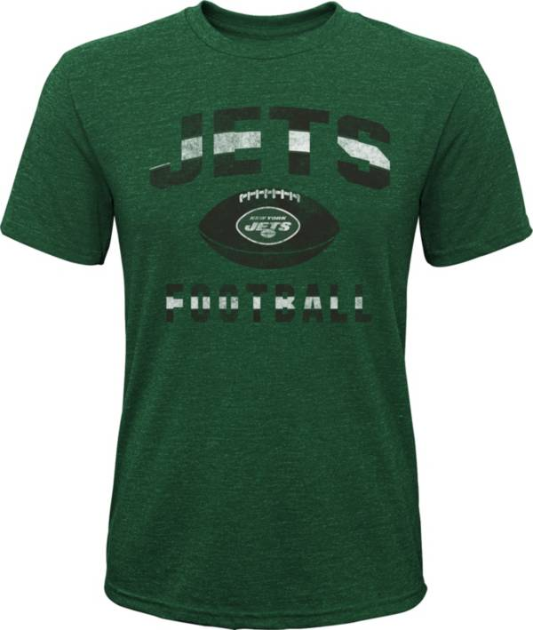 NFL Team Apparel Youth New York Jets Big Game Tri-Blend Green T-Shirt product image