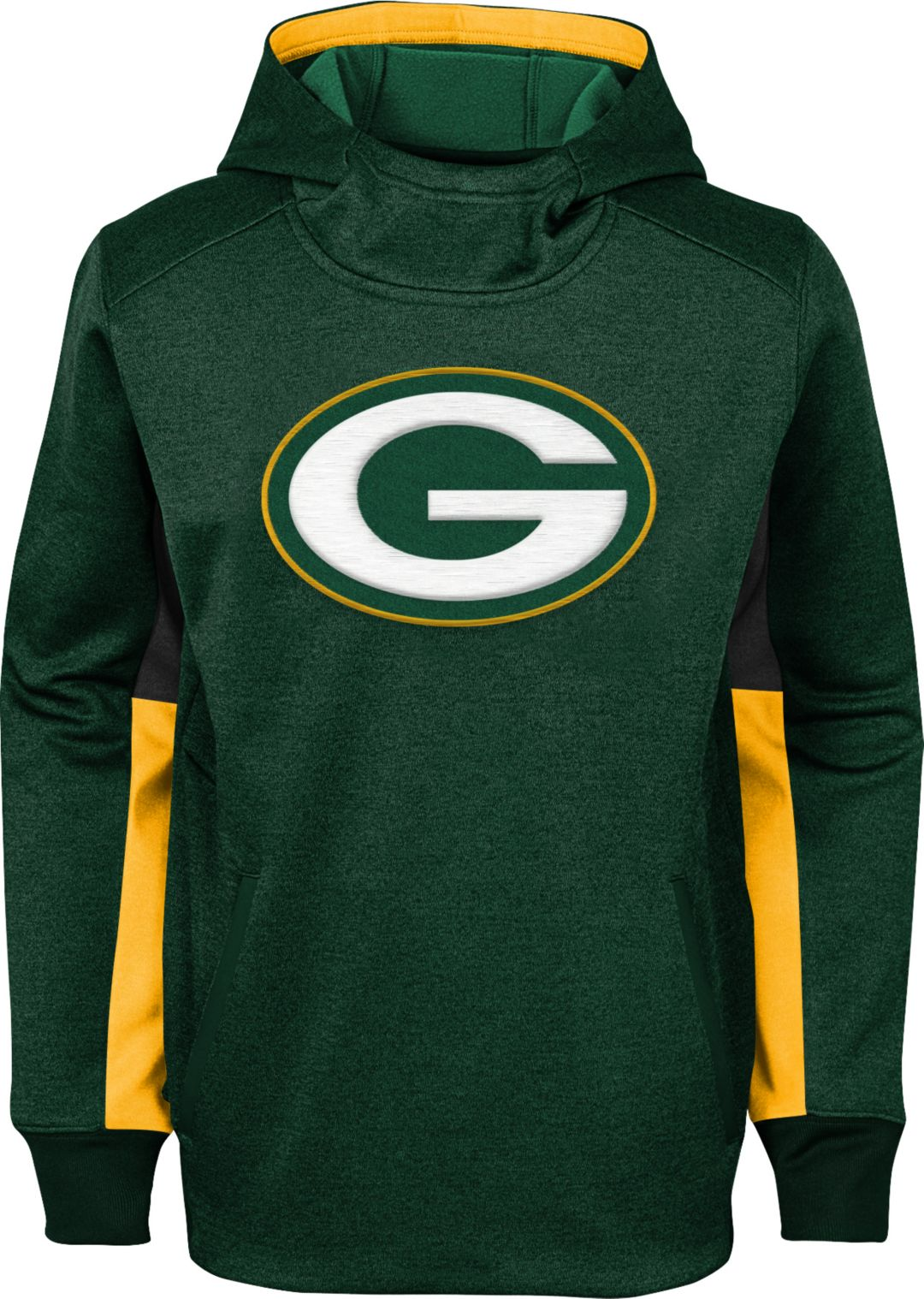 best service d9eea 9a50a NFL Team Apparel Youth Green Bay Packers Status Performance Green Hoodie