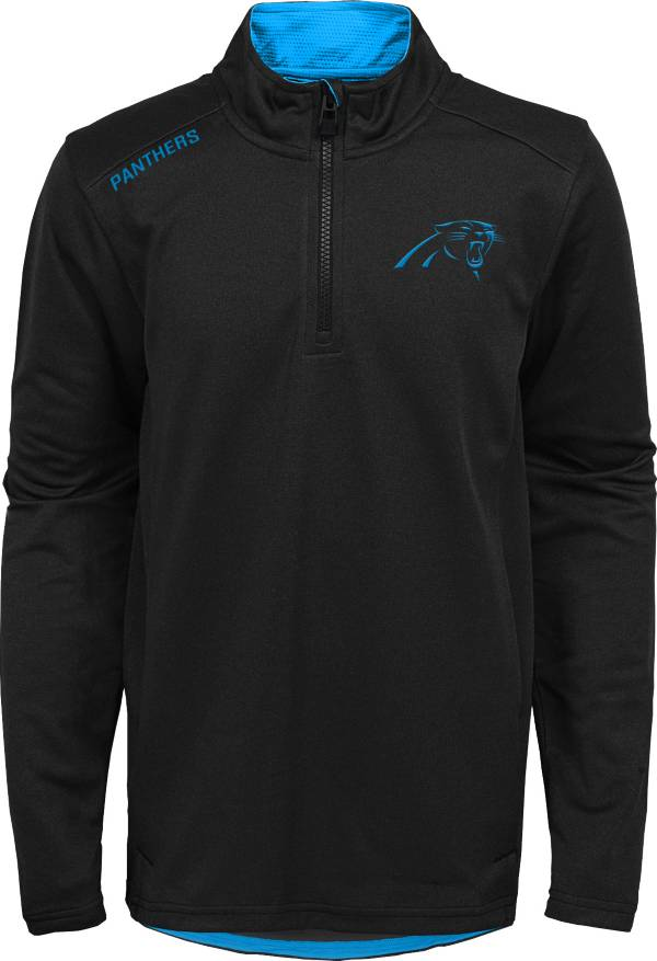 NFL Team Apparel Youth Carolina Panthers Unlock Black Quarter-Zip Pullover product image