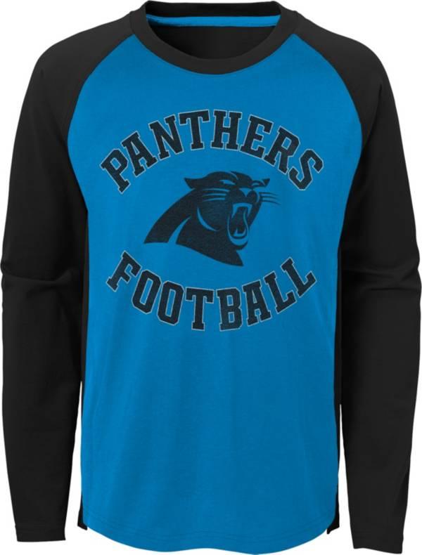 NFL Team Apparel Youth Carolina Panthers Air Raid Long Sleeve Black Shirt product image