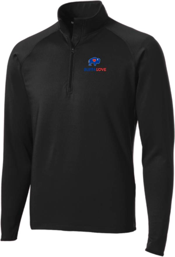 BuffaLove Men's Black Quarter-Zip Pullover product image