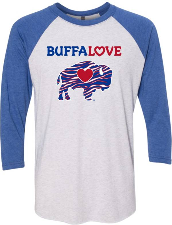 BuffaLove Men's Stripes Blue Raglan Three-Quarter Sleeve Shirt product image
