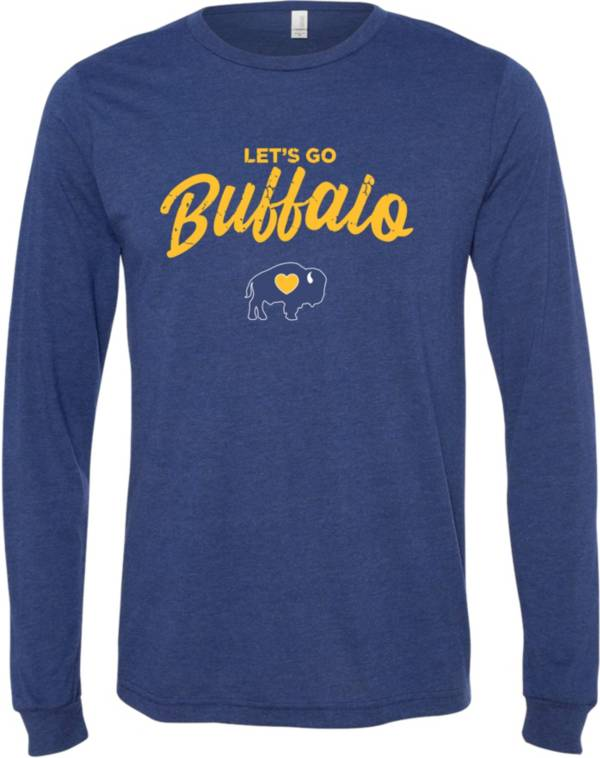 BuffaLove Men's Leg's Go Buffalo Navy Long Sleeve Shirt product image