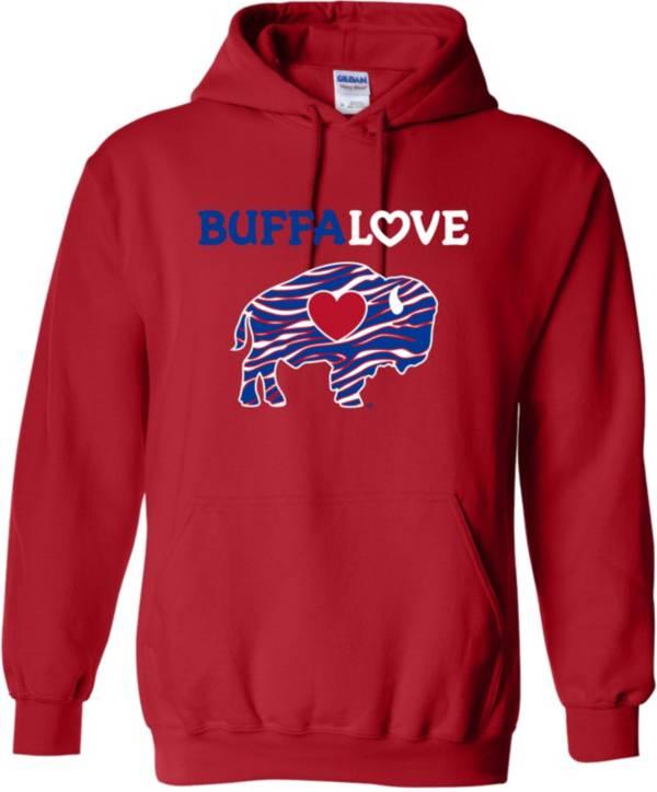 BuffaLove Men's Red Raglan Pullover Hoodie product image