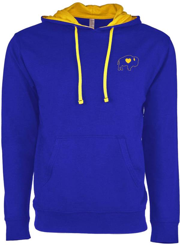 BuffaLove Men's Royal/Yellow Pullover Hoodie product image