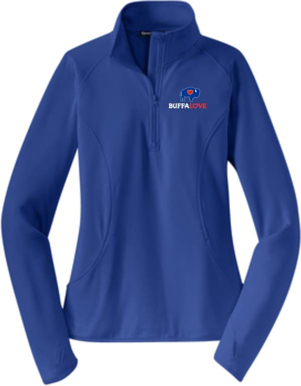 BuffaLove Women's Royal Quarter-Zip Pullover product image