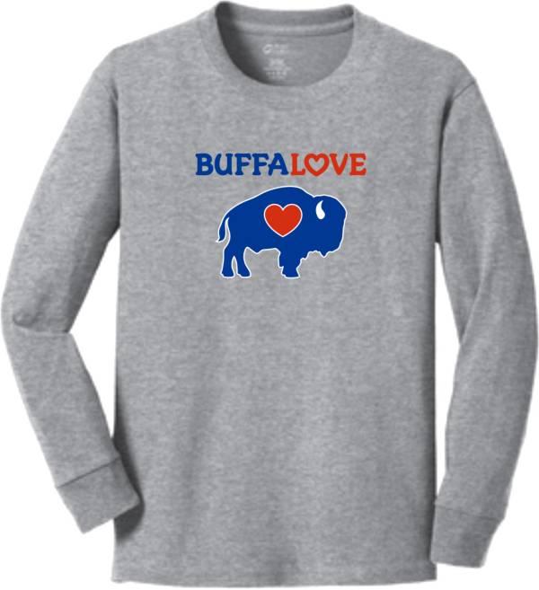 BuffaLove Youth Traditional Grey Long Sleeve T-Shirt product image