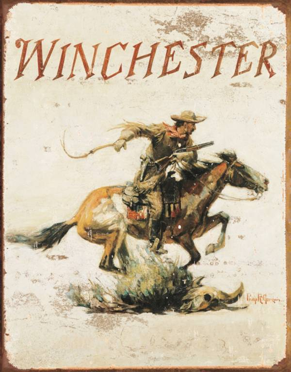 Winchester Logo Tin Sign product image