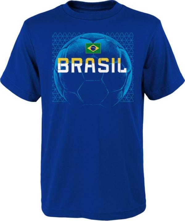 Outerstuff Men's Brazil Penalty Kick Blue T-Shirt product image