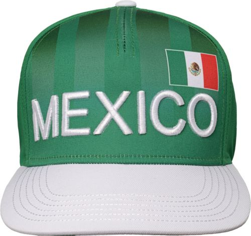 cdb8415beb174 Outerstuff Youth Mexico Hook Flag Green Snapback Adjustable Hat ...