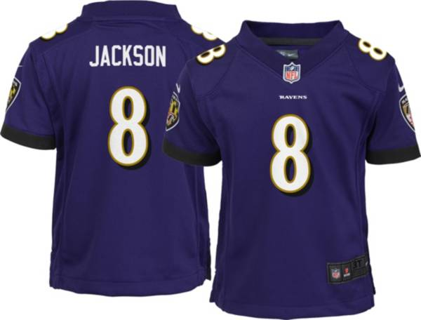 Nike Toddler Baltimore Ravens Lamar Jackson #8 Purple Game Jersey product image