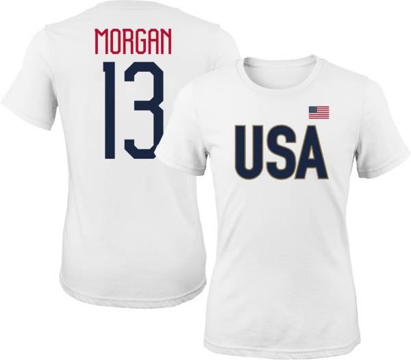 Outerstuff Women's USA Soccer Alex Morgan #13 Player White T-Shirt product image