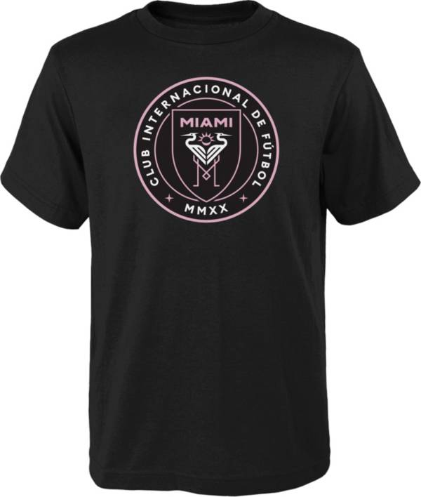MLS Youth Inter Miami CF Primary Logo Black T-Shirt product image