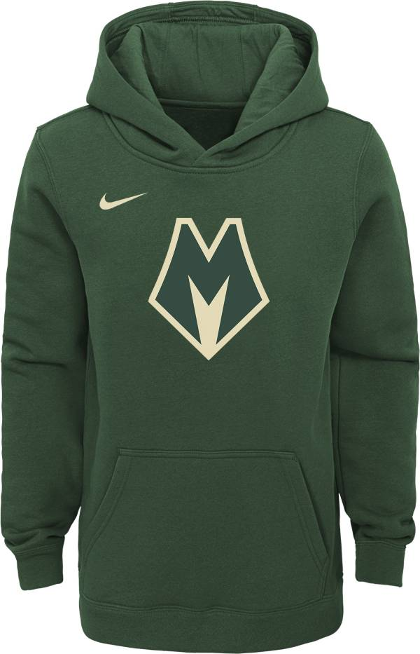 Nike Youth Milwaukee Bucks City Edition Green Hoodie product image