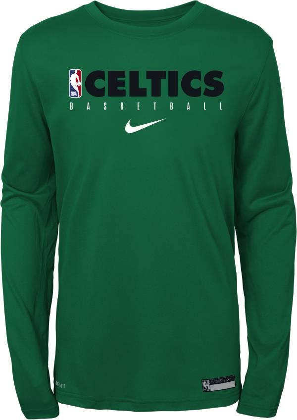Nike Youth Boston Celtics Dri-FIT Practice Long Sleeve Shirt product image