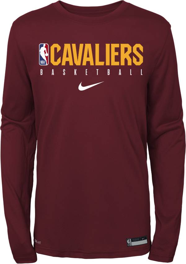 Nike Youth Cleveland Cavaliers Dri-FIT Practice Long Sleeve Shirt product image