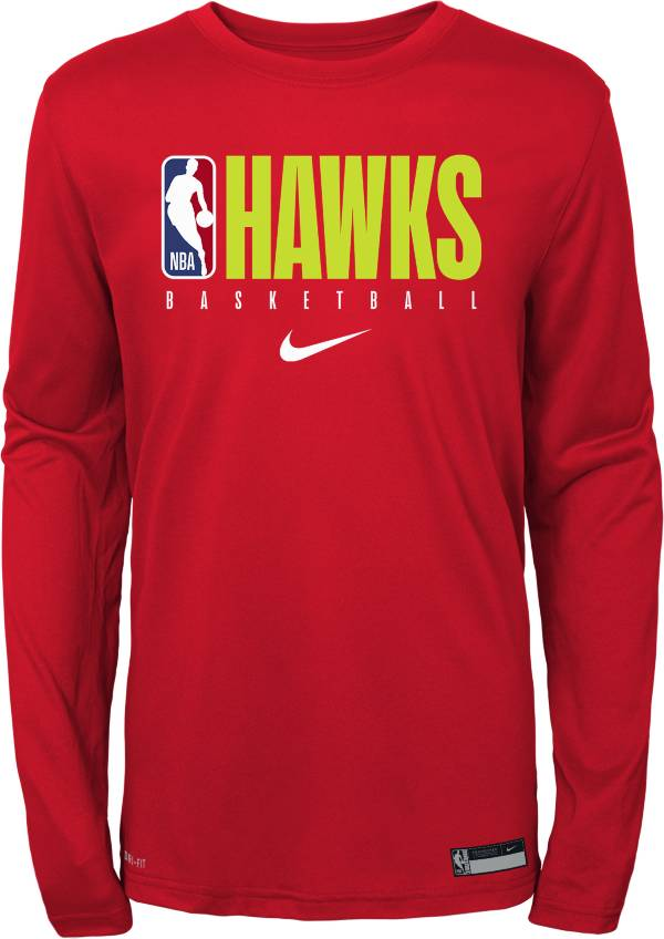 Nike Youth Atlanta Hawks Dri-FIT Practice Long Sleeve Shirt product image