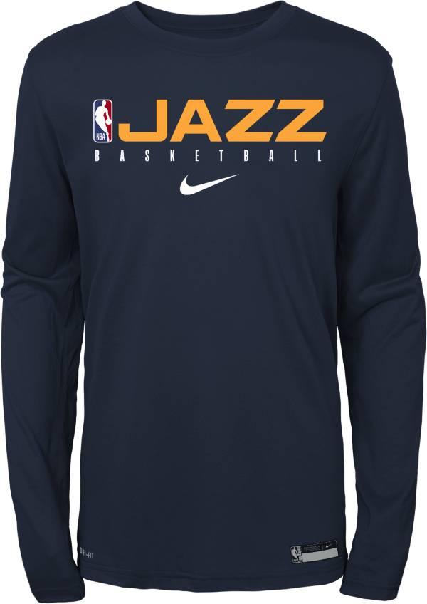 Nike Youth Utah Jazz Dri-FIT Practice Long Sleeve Shirt product image
