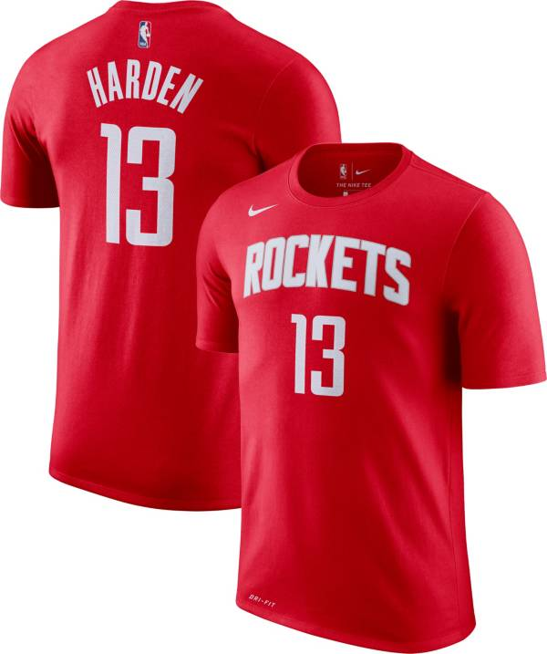 Observar Extremistas Trampolín  Nike Youth Houston Rockets James Harden #13 Dri-FIT Red T-Shirt | DICK'S  Sporting Goods