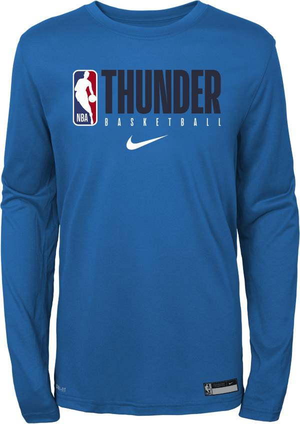 Nike Youth Oklahoma City Thunder Dri-FIT Practice Long Sleeve Shirt product image