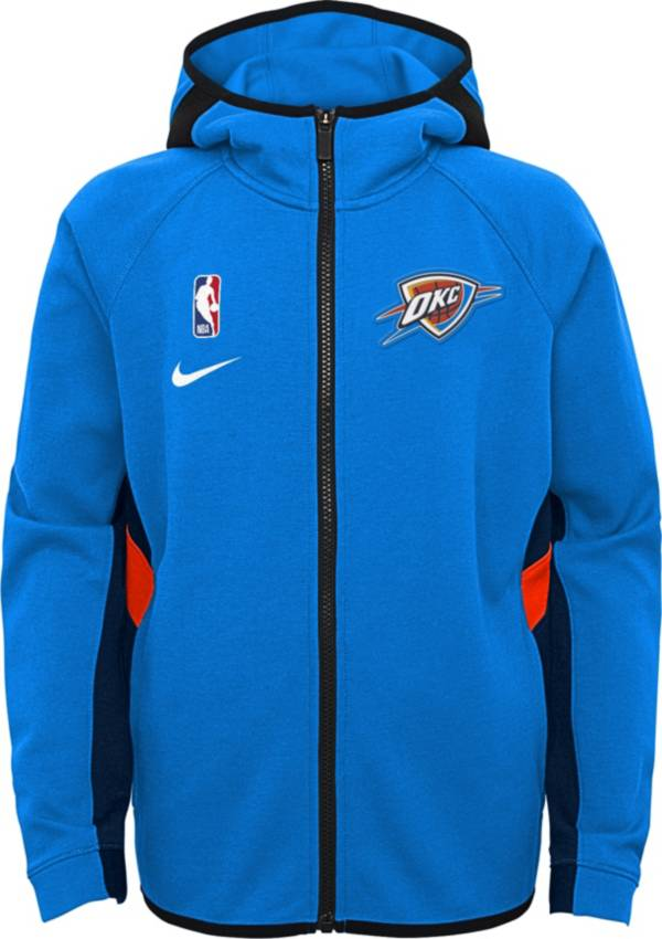 Nike Youth Oklahoma City Thunder On-Court Therma Flex Showtime Full-Zip Hoodie product image