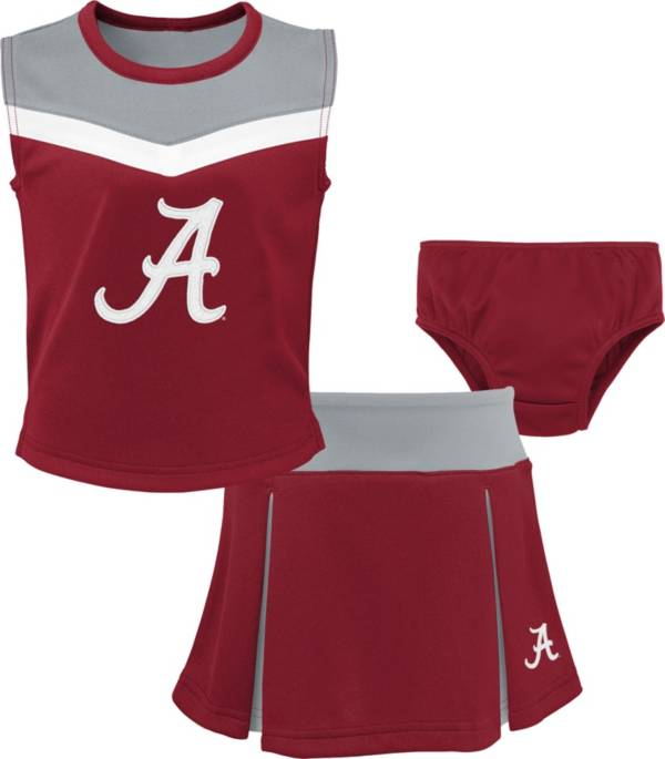 Gen2 Youth Girls' Alabama Crimson Tide Crimson Cheer Captain 2-Piece Jumper Dress product image
