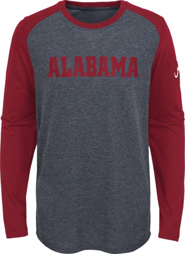 Gen2 Youth Alabama Crimson Tide Grey First String Long Sleeve T-Shirt product image