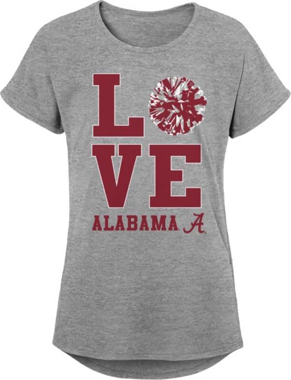 Gen2 Youth Girls' Alabama Crimson Tide Grey Pom Pom Love T-Shirt product image