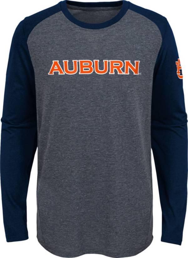 Gen2 Youth Auburn Tigers Grey First String Long Sleeve T-Shirt product image