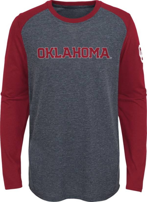 Gen2 Youth Oklahoma Sooners Grey First String Long Sleeve T-Shirt product image