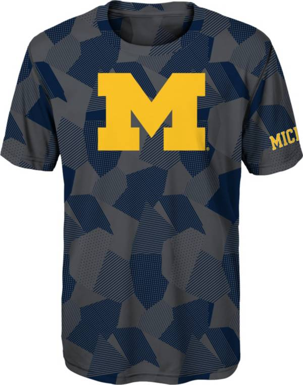 Gen2 Boys' Michigan Wolverines Grey Sublimated Print Stadium T-Shirt product image