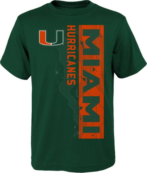 Gen2 Boys' Miami Hurricanes Green Challenger T-Shirt product image