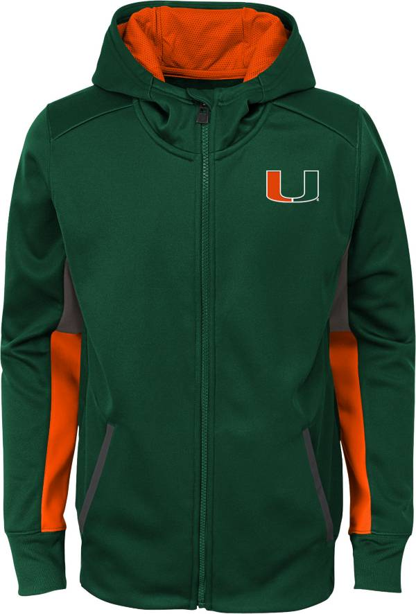 Gen2 Youth Miami Hurricanes Green Full-Zip Performance Hoodie product image