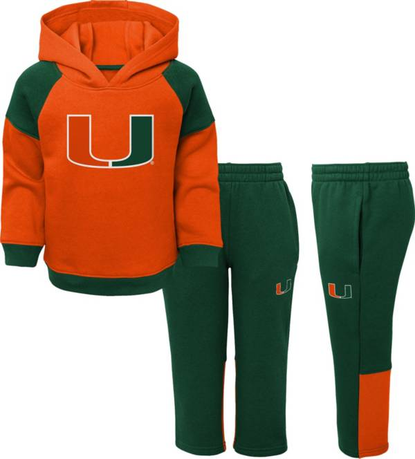 Gen2 Toddler Boys' Miami Hurricanes Orange/Green Sideline 2-Piece Fleece Set product image