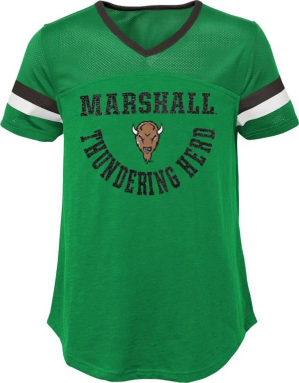 Gen2 Girls' Marshall Thundering Herd Green Game Plan T-Shirt product image
