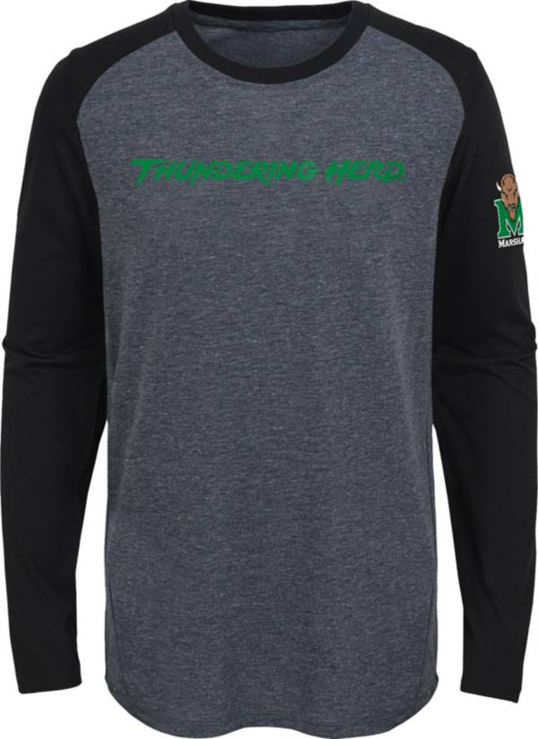 Gen2 Youth Marshall Thundering Herd Grey First String Long Sleeve T-Shirt product image
