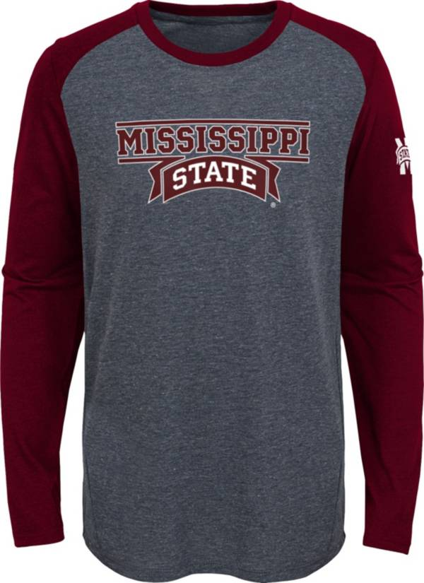 Gen2 Youth Mississippi State Bulldogs Grey First String Long Sleeve T-Shirt product image