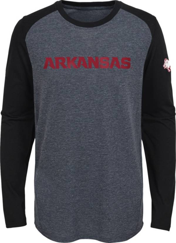 Gen2 Youth Arkansas Razorbacks Grey First String Long Sleeve T-Shirt product image