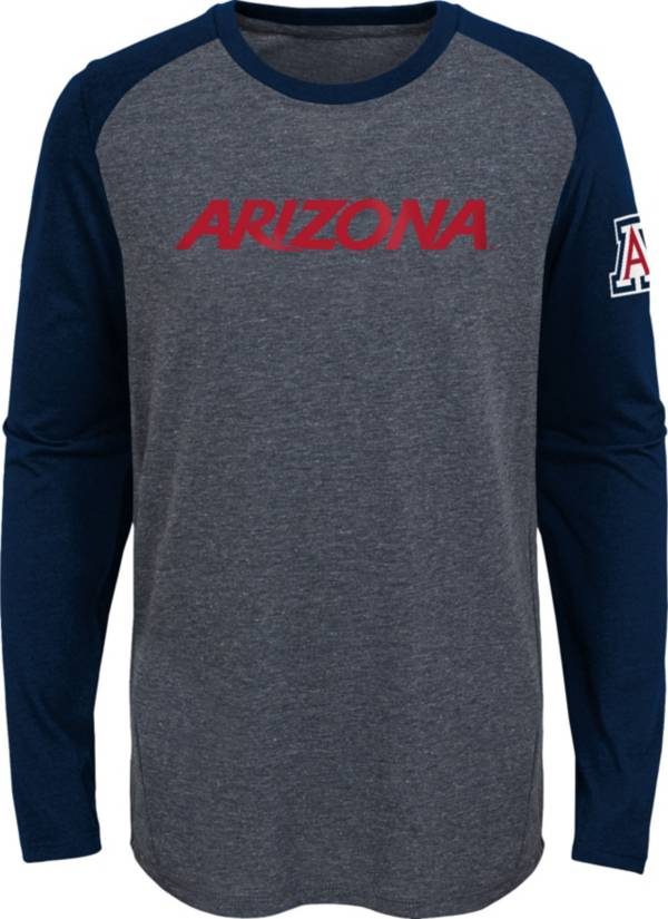 Gen2 Youth Arizona Wildcats Grey First String Long Sleeve T-Shirt product image
