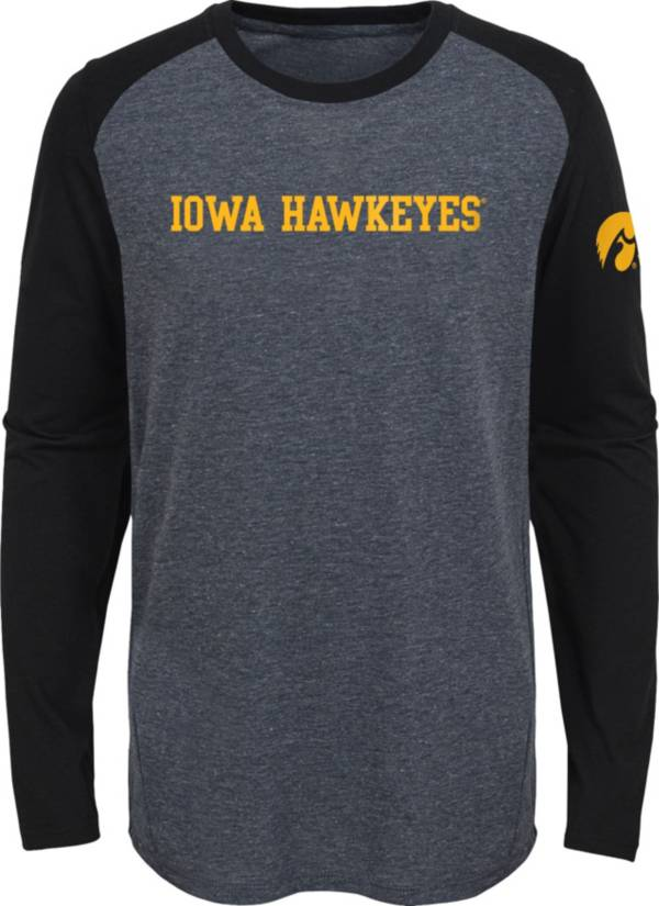 Gen2 Youth Iowa Hawkeyes Grey First String Long Sleeve T-Shirt product image