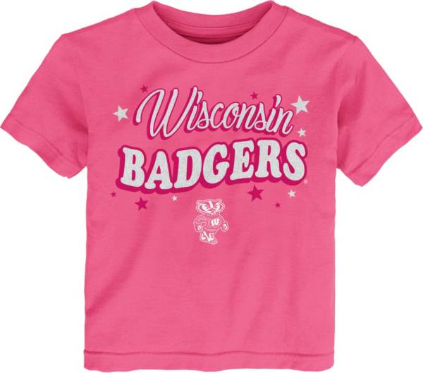 Gen2 Toddler Girls' Wisconsin Badgers Pink My Team T-Shirt product image