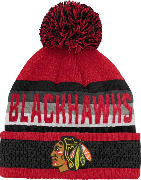 NHL Youth Chicago Blackhawks Cuff Pom Knit Beanie product image