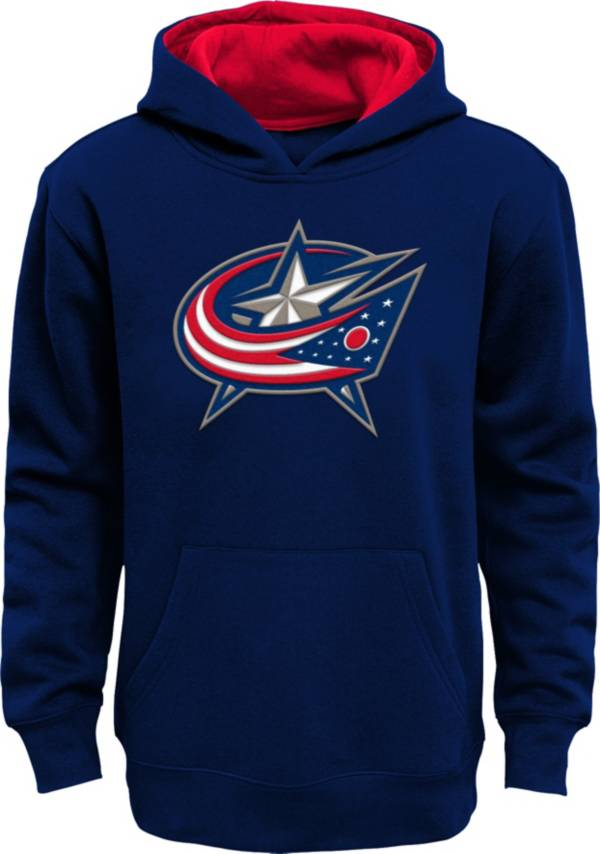 NHL Youth Columbus Blue Jackets Prime Fleece Navy Pullover Hoodie product image