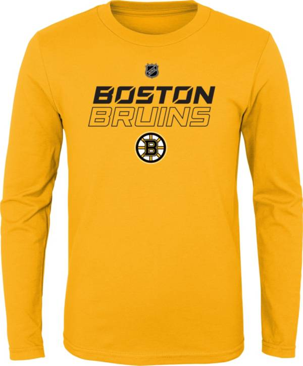 NHL Youth Boston Bruins Prime Stock Gold Long Sleeve Shirt product image