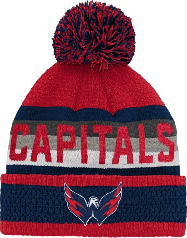 NHL Youth Washington Capitals Cuff Pom Knit Beanie product image