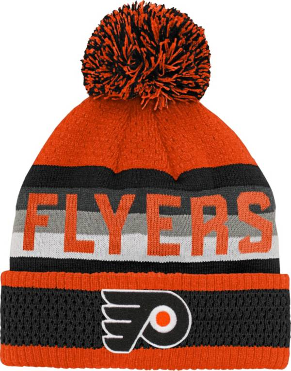 NHL Youth Philadelphia Flyers Cuff Pom Knit Beanie product image