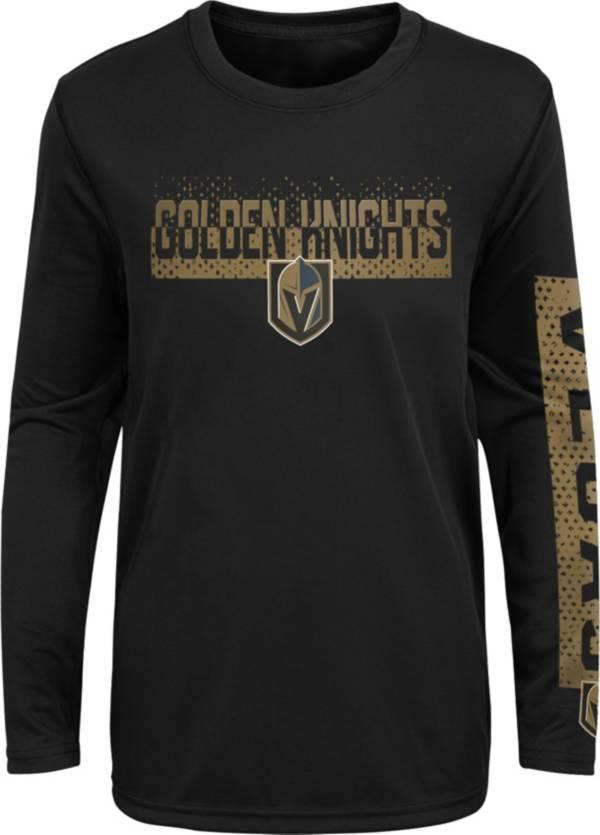 NHL Youth Vegas Golden Knights Slap Shot Black Long Sleeve Shirt product image