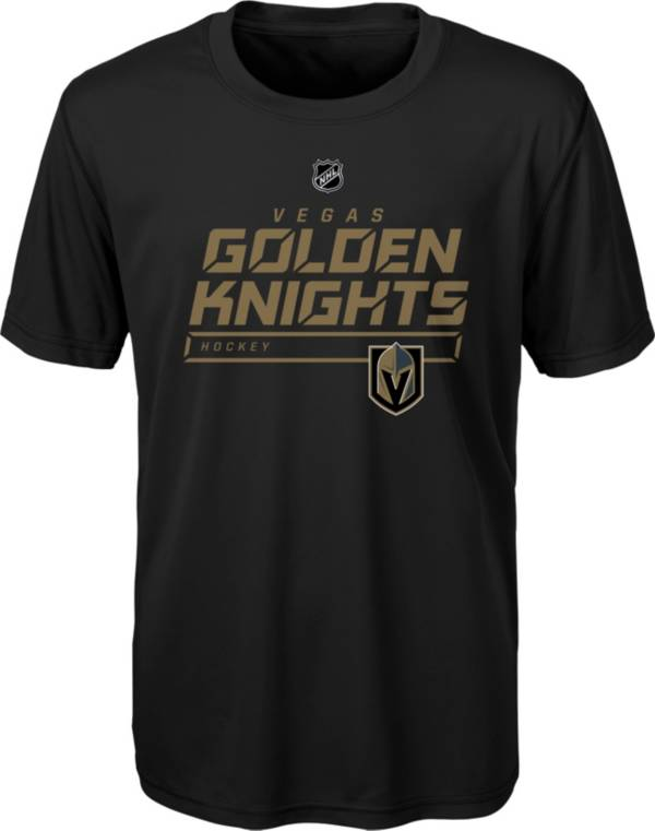 NHL Youth Vegas Golden Knights On Ice Black Performance T-Shirt product image