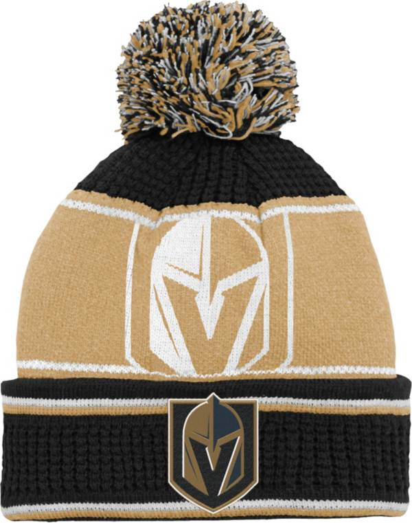 NHL Youth Vegas Golden Knights Grind Cuff Pom Knit Beanie product image
